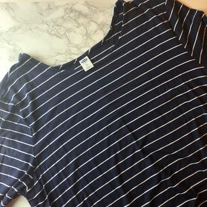 NWT Old Navy Navy and White Striped Swing Dress